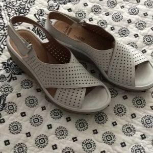 Women's White Wedge Sandals